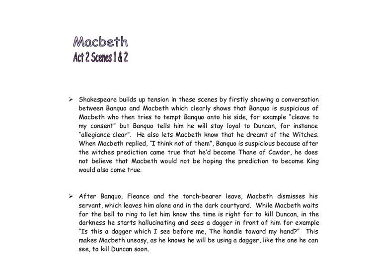 What is the impression of Macbeth and what do we learn about Duncan's character in Act 1, Scene 2?