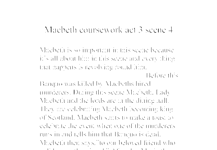 macbeth essay gcse coursework
