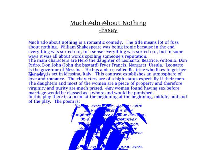 beatrice much ado about nothing essays The educational value of targeting instruction to the schema nothing about beatrice essays on from much ado proposed by higher education table.