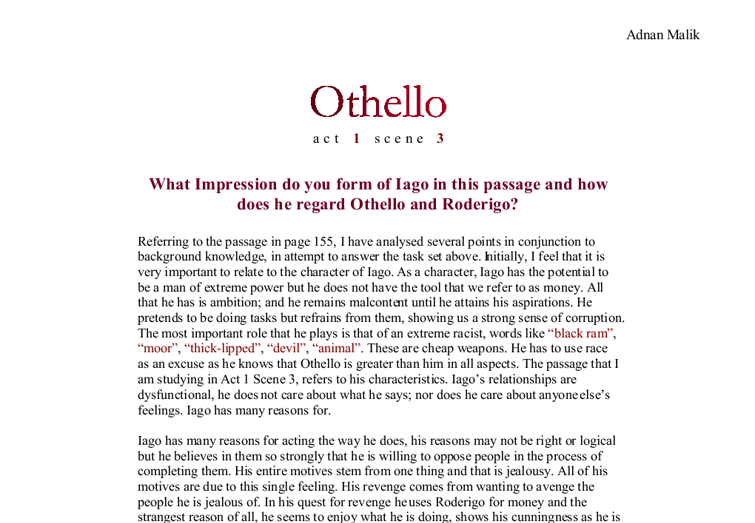 speech on jealousy in othello essay Click the button above to view the complete essay, speech othello essay - othello's jealousy in william othello essay - jealousy in othello.