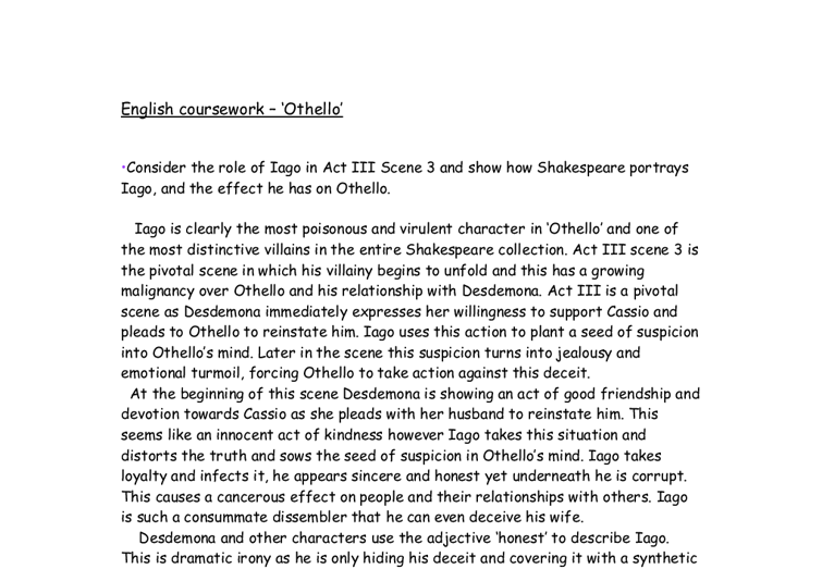 othello essays on iago