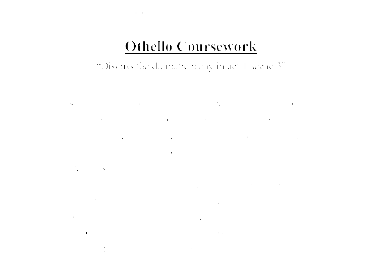 Othello summary essay sample
