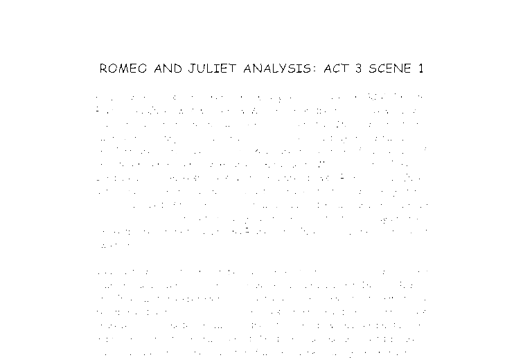 Romeo and juliet analytical essay