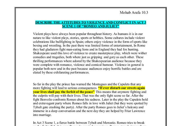 romeo and juliet violence motif essay Free essays on explore theme violence romeo juliet use our research documents to help you learn 701 - 725.