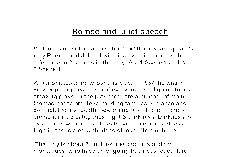 conflict essays romeo juliet Romeo and juliet study guide contains a biography of william shakespeare, literature essays, a complete e-text, quiz questions, major themes, characters, and a.