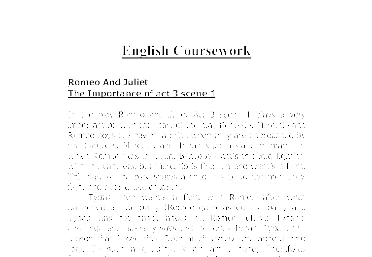 romeo and juilet coursework
