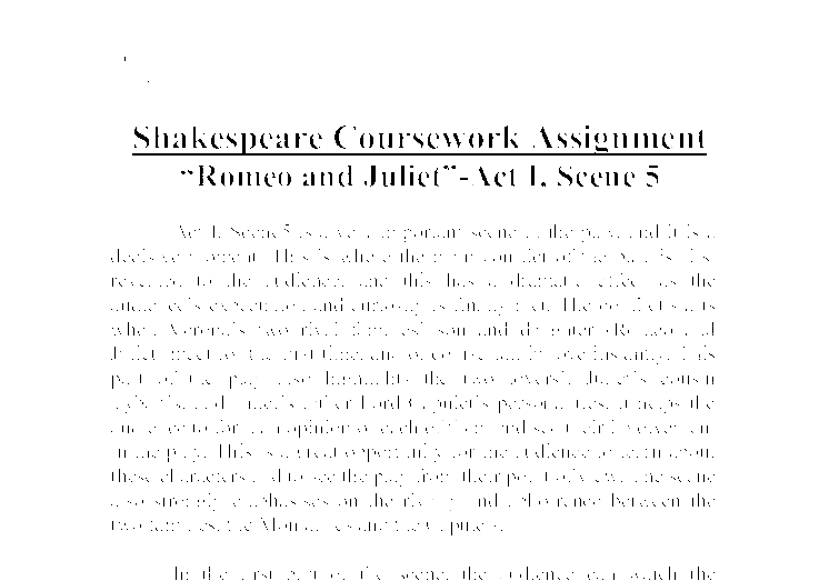 Romeo and Juliet – Media Coursework Essay Sample