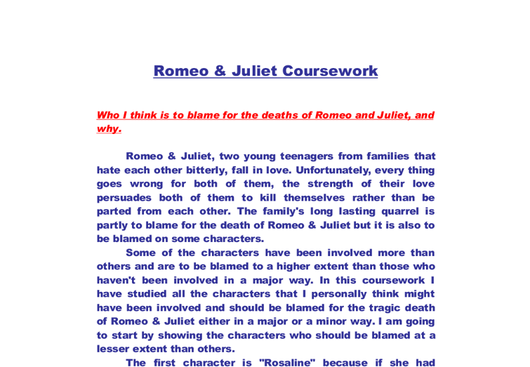 great thesis statement romeo juliet Good thesis statement for romeo and juliet essay mayan facts homework help media studies essay by michaelpwriter in democratic societies.