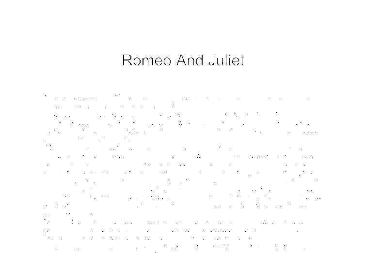 Good essay quotes romeo juliet