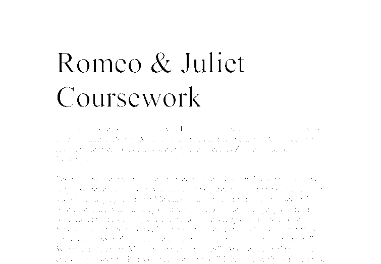 romeo and juliet essay paper
