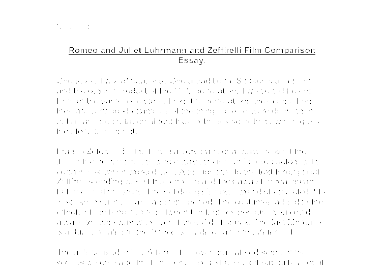 Romeo and juliet comparison essay