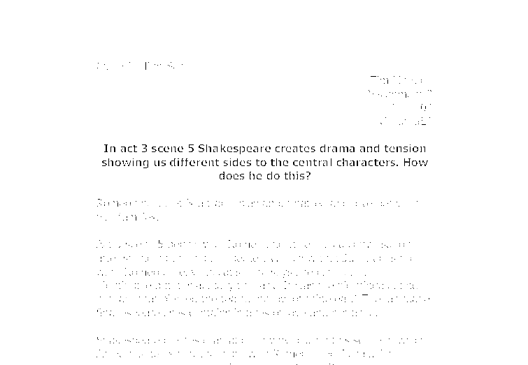 how does shakespeare create a dramatic