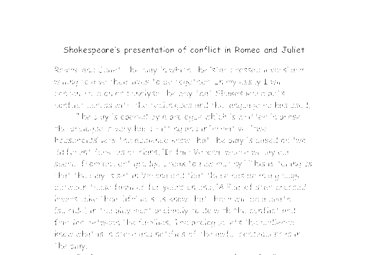 theme conflict romeo juliet essays Romeo and juliet essay examples the theme of violence in romeo and juliet 555 words 1 page an analysis of othello, a tragedy by.