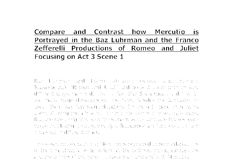 compare and contrast of romeo and Compare and contrast the characters of romeo and juliet how do they develop from chem 112 at gwu.