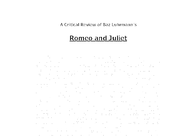 romeo and juliet essay examples Jesus christ essay topic for your specific examples and provide appropriate.