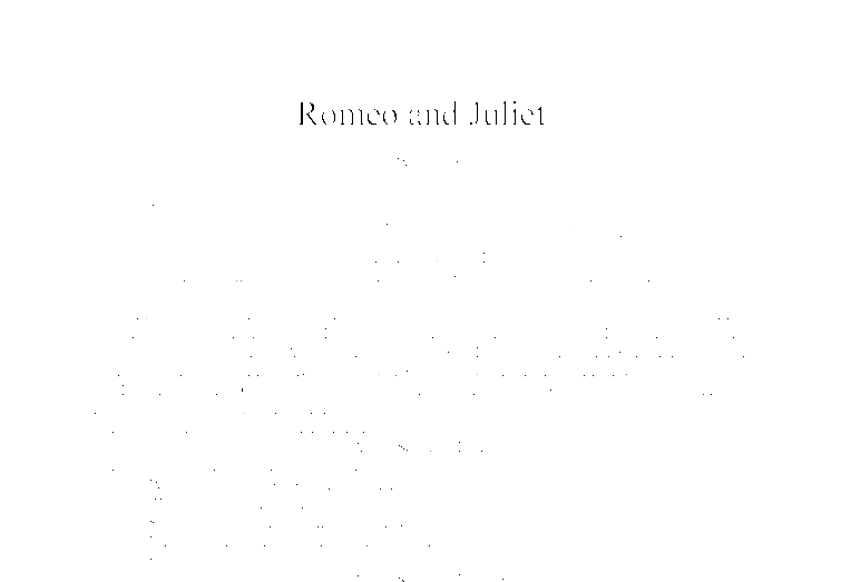 An analysis of the topic of william shakespeares romeo and juliet