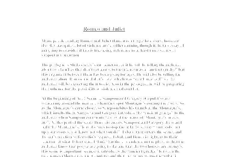 romeo and juliet power of love essay The play romeo and juliet is a classic tale of friendship, love, betrayal, comedy, tragedy, and death i t was written by william shakespeare in and is considered one.