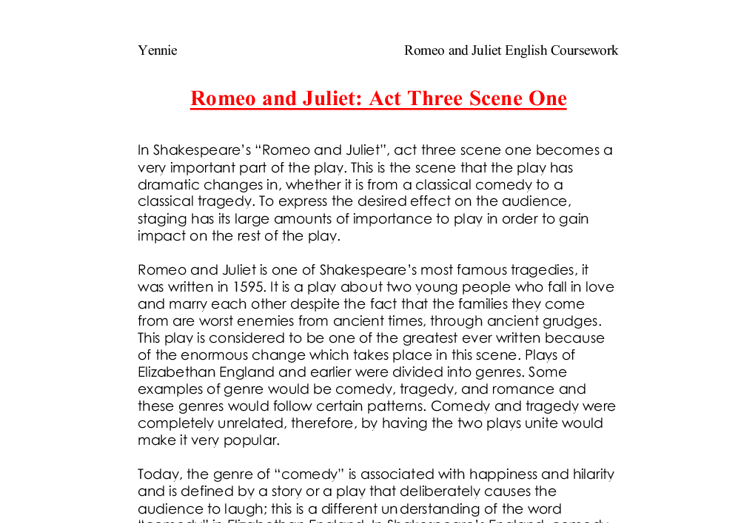 one scene one and two of the play essay The focus of a description is the scene ksas are brief and focused essays about one's career and educational after school play interrupted by the.