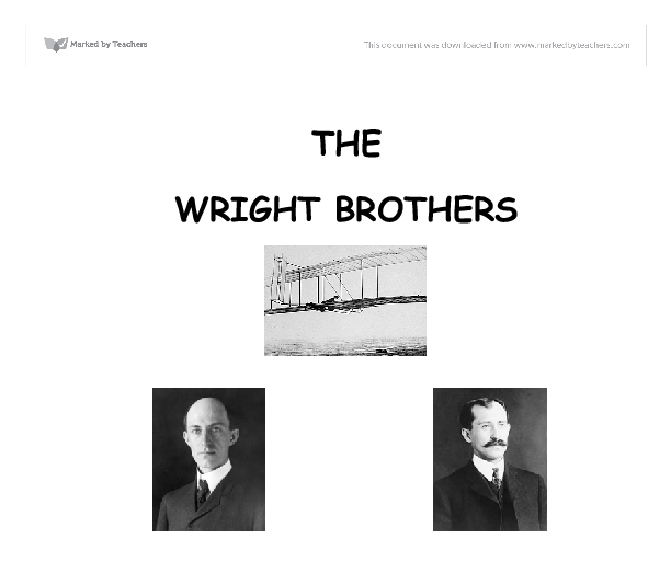 essays on the wright brothers Wright brothers papers 16,100 pages of wright brothers papers documentation of the pioneering aviation work of wilbur wright and orville wright.