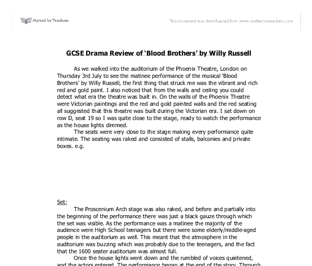 blood brothers coursework help About blood brothers gcse student guide written specifically for gcse students by academics in the field, the methuen drama gcse guides conveniently gather indispensable resources and tips for successful understanding and writing all in one place, preparing students to approach their exams with confidence.