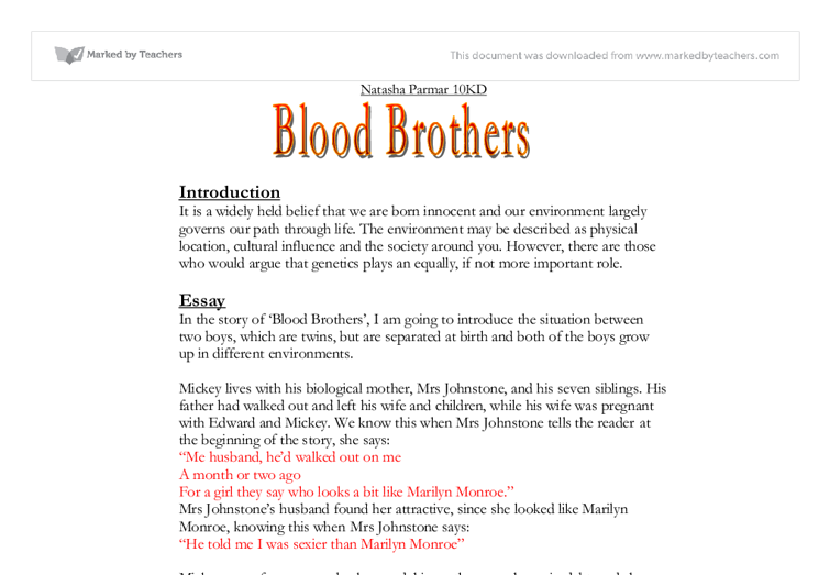 Blood Brothers Display Pack