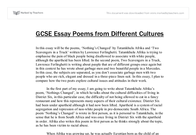 poems from other cultures essay Poetry from different cultures essay, coursework academic writing service.