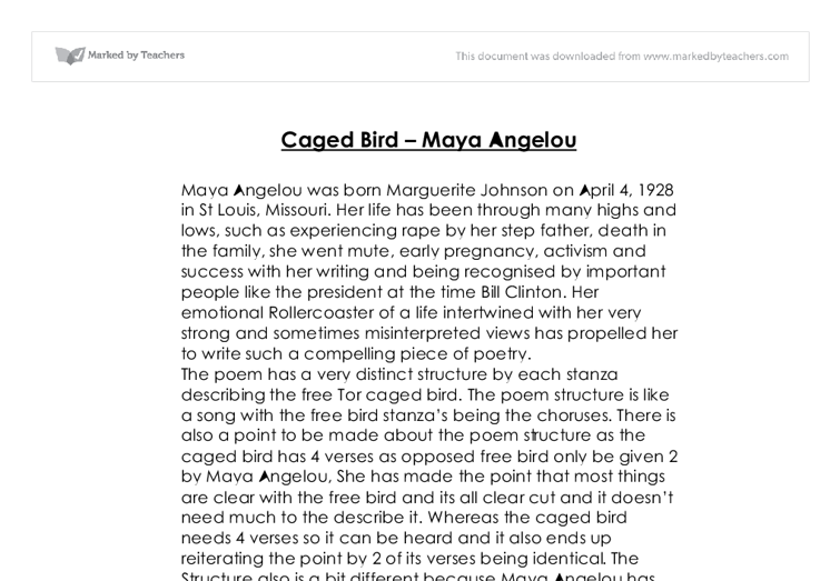 sister flowers by maya angelou thesis statement Bertha flowers, the main character of 'i know why thecaged bird sings', was an alter ego of the autho r, maya angeloumrs flowers was what maya wanted to be like what is the thesis statement of sister flowers by maya angelou.
