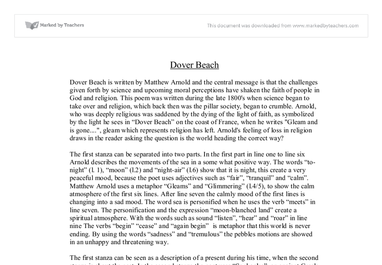 Matthew Arnold's Dover Beach: Summary & Analysis