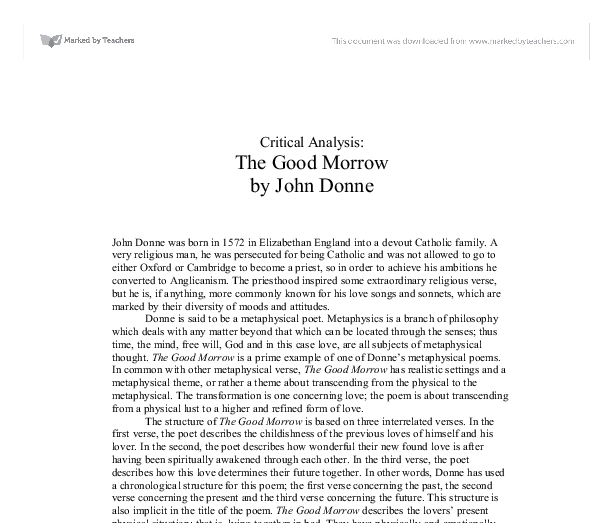 Example of good literary analysis essay