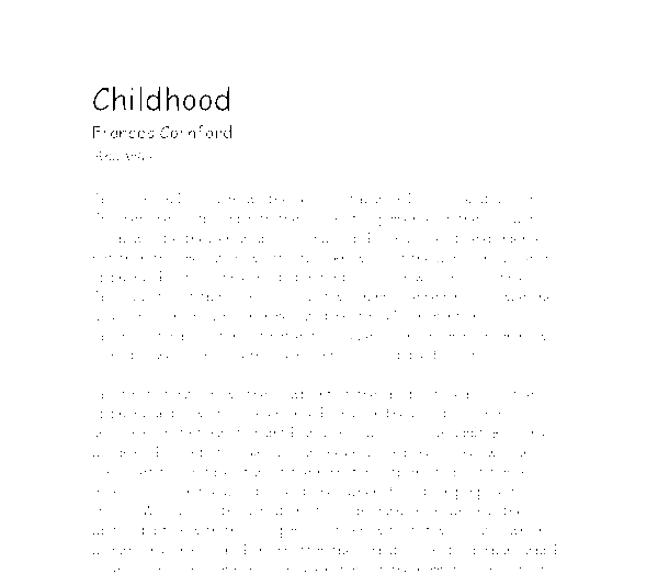 Essay on your childhood memories