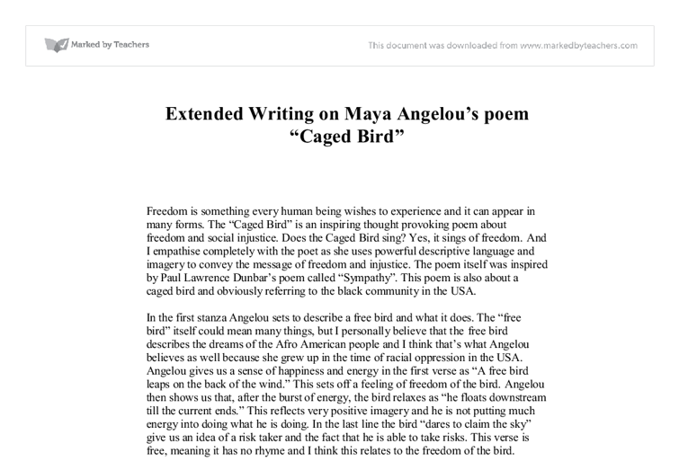 analysis of graduation by maya angelou Browse through maya angelou's poems and quotes 53 poems of maya angelou phenomenal woman, still i rise, the road not taken, if you forget me, dreams (born marguerite ann johnson on april 4, 1928) was an american author and.