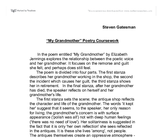 personal essay on my grandfather 2 essay on grandfather my grandfather, my inspiration to greatly influence my life is my grandfather, clemson calhoun my grandfather for his hardworking attitude.