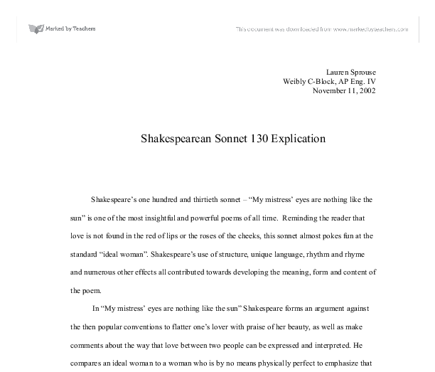 how to write a personal sonnet analysis essay no one truly knows if his sonnets were devoted to a real person or just about his personal feelings in