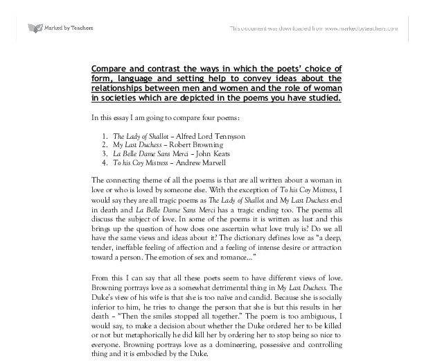 compare and contrast essays about men and women Sample essay paragraphs please check the sample of the previously written essay on the topic we are sure we can handle writing a new unique essay on this topic within the tight deadlines.