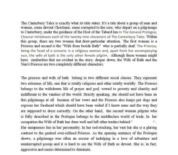 essay about the prioress Read this english essay and over 88,000 other research documents analyzing symbols and symbolism in the canterbury tales ben lucas 12/4/06 paper #3 chaucer 133 analyzing symbols and.