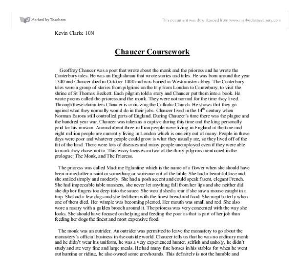 chaucers the prioress essay