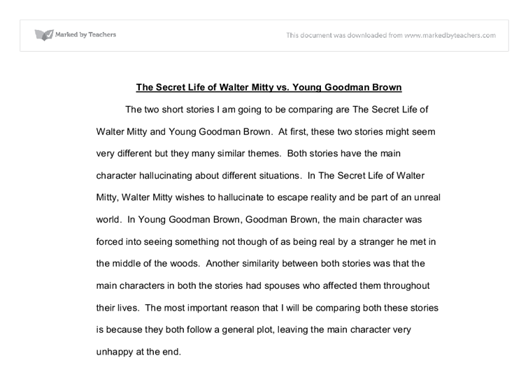School Uniforms Essays Document Image Preview High School Personal Statement Sample Essays also Harrison Bergeron Essay The Secret Life Of Walter Mitty Vs Young Goodman Brown  Gcse  Interpersonal Communication Essay