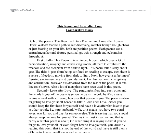English essays on love