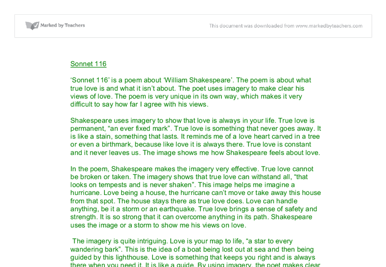 Shakespeare Sonnet 116 Analysis