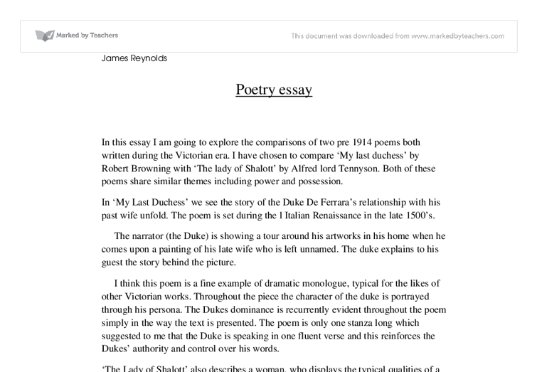 robert browning poems my last duchess essay