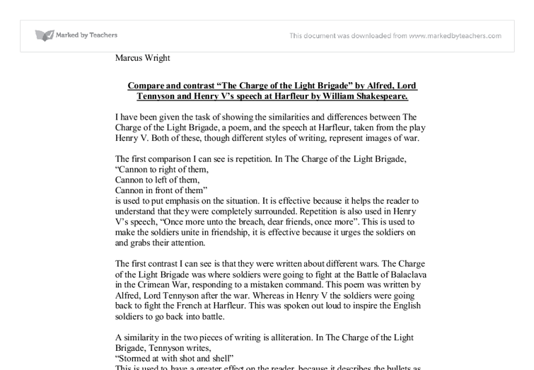 Michael Oher Charge Of The Light Brigade Essay  College Paper Help  Michael Oher Charge Of The Light Brigade Essay Compare And Contrast Essay About High School And College also Politics And The English Language Essay Essay Paper Writing