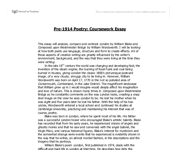 1914 poetry essay Gcse: war poetry browse by rating: 4 star+ (5) because in 1914 war poetry captures a vast array of different subjects regardin.