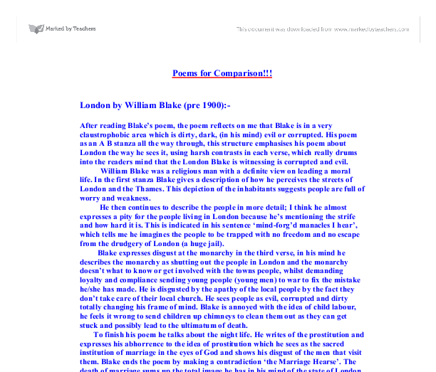 pre 1900 poetry and atonement comparison essay As and a level english literature are linear qualifications at least one pre–1900 text one comparative essay question from a post-1900: atonement.