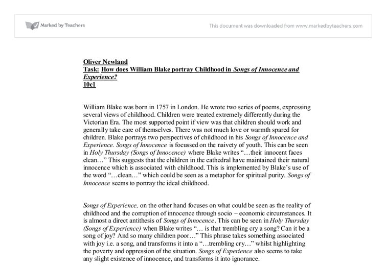childhood as a time of innocence english literature essay The romantic myth of childhood as a transhistorical holy time of innocence  romantic childhood, the essayists in literature and the child show us how little .