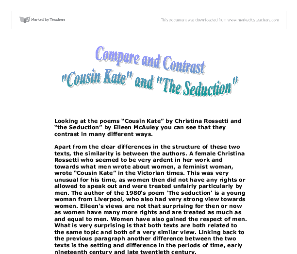 relationship in cousin kate essay