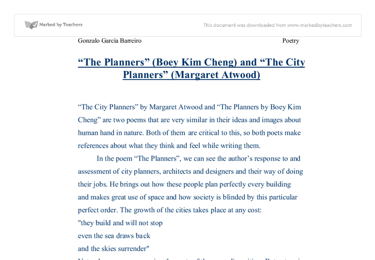 analysis of the planners by cheng The planners – boey kim cheng the planners written by boey kim cheng excellent analysis of the effect of caesura and the fact that dentistry.