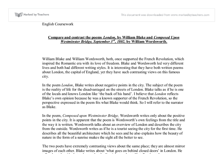 composed upon westminster bridge, september 3, 1802 by william wordsworth essay Composed upon westminster bridge, september 3, 1802 by william wordsworth composed upon westminster bridge, september 3, 1802.