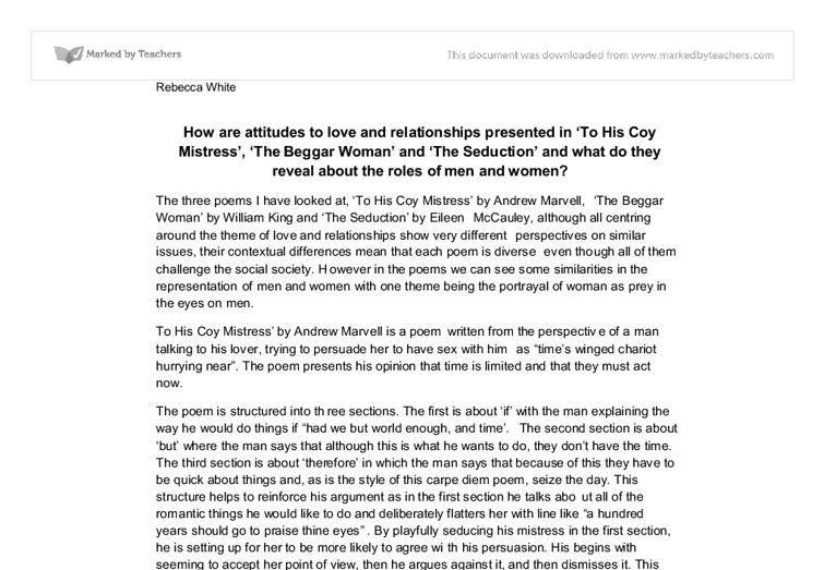 sample essay love awesome collection of how to write papers about  how are attitudes to love and relationships presented in to his document image preview