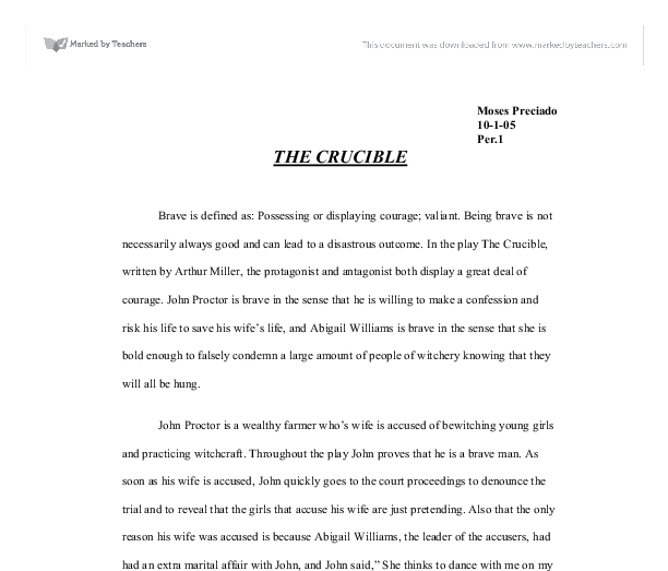 Essay on abigail williams the crucible