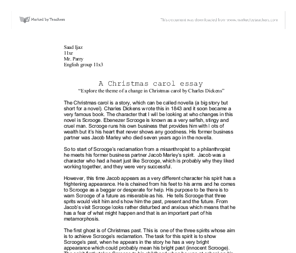 a christmas carol essay explore the theme of a change in christmas  document image preview